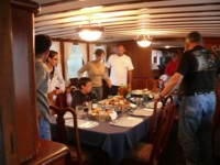 We serve gourmet meals and accommodate any dietary restrictions on all our cruises